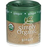 Simply Organic Ginger Root - Organic - Ground - .42 oz - Case of 6
