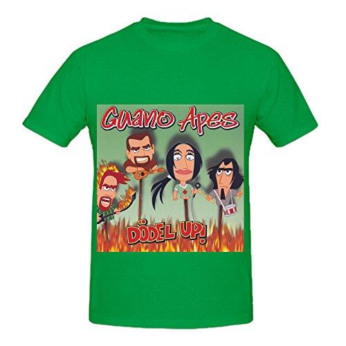 Guano Apes Ddel Up Electronica Men Crew Neck Custom Shirt Green (Adult Cheer Bear Dress)