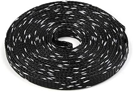 3mm BLACK BLUE Expandable Braided DENSE PET Cable Sleeve Audio PC Diy Densely
