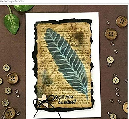 Fabric Believe You can Floor Home Decor Wood 6x6 inches DIY Albums Wall Reusable Painting Template for Journal CrafTreat Stencil Scrapbook and Printing on Paper Crafting Tile