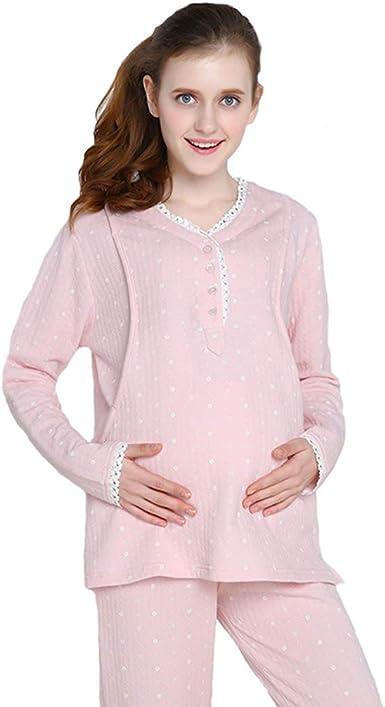 Pijamas Mujeres Embarazadas de Algodón Ropa de Dormir Rosa ...