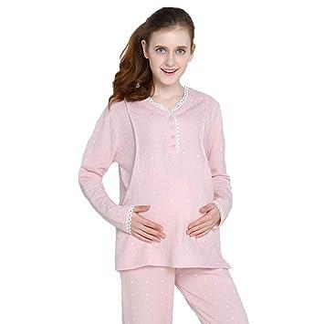 Amazon.com: Dormir Pajamas Mujeres Embarazadas Algodón ...