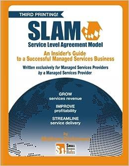 Slam service level agreement model slam your managed services slam service level agreement model slam your managed services revenue mathew dickerson 9781419673054 amazon books platinumwayz