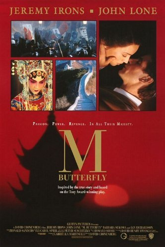 M. BUTTERFLY original 1993 rolled 27x41 one sheet movie poster JEREMY IRONS/JOHN LONE/DAVID CRONENBERG