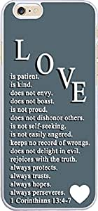 Love is patient is kind does not envy does not boast is not proud does not dishonor others is not self-seeking is not easily angered keeps no record of wrongs does not delight in evil rejoices with the truth always protects always trusts always hopes always perseveres I Corinthians 13:4-7 Christian Quote Bible Verses Pattern Print Plastic Cover Protector Sleeve Case For Apple Iphone 6 4.7 inches by icecream design