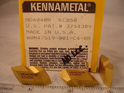 Kennametal - Nd 4040R Kc850 Kennametal Carbide Grooving Inserts (5Pcs) New&Original from Kennametal