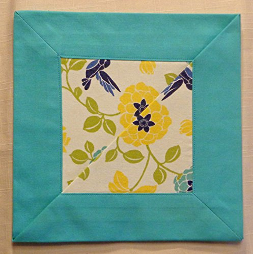 "Judith Lagoon Floral Cloth Napkins w/ 2"" mitered corners"