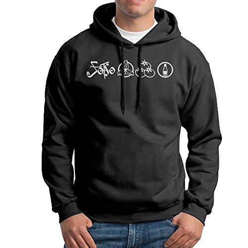 UFBDJF20 Led Zeppelin Men's Hooded Sweatshirt Black (Ghostbusters Couples Costumes)