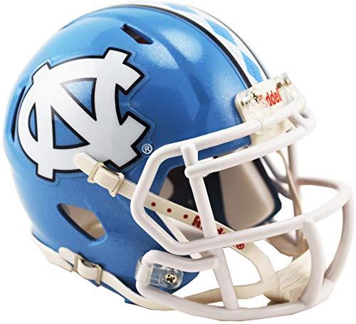 Sports Memorabilia Riddell North Carolina Tar Heels Revolution Speed Mini Football Helmet - College Mini Helmets