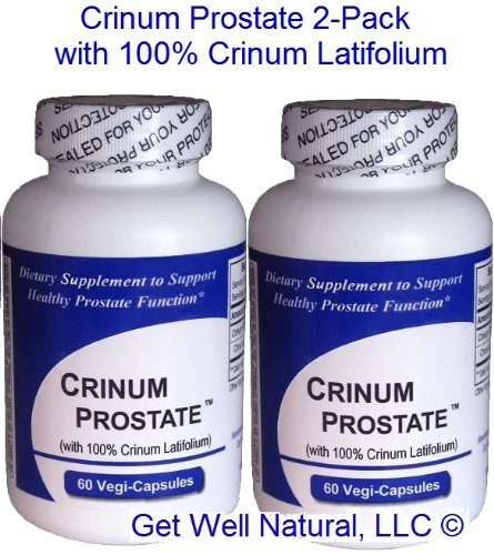 Crinum Prostate 2-Pack (60 Caps per Bottle) 100% Concentrated Vietnamese Crinum Latifolium, CONTAINS NO Synthetic fillers such as Silicon Dioxide, Talc, Magnesium Sterate, etc. by Get Well Natural, LLC