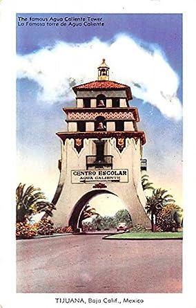 Agua Caliente Tower Tijuana Mexico Postcard Tarjeta Postal ...