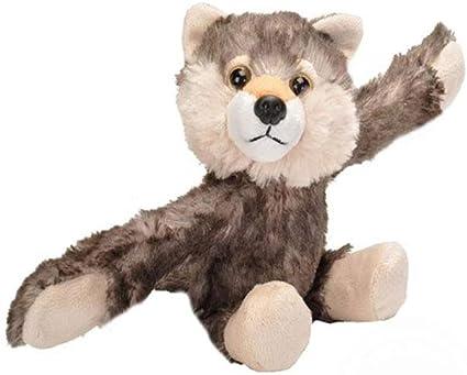 Best Stuffed Animals For Boy, Amazon Com Wild Republic Huggers Wolf Plush Toy Slap Bracelet Stuffed Animal Kids Toys 19556 Toys Games