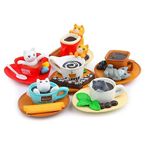 [Shalleen 6pcs New Anime Cup Sweet Home Micro landscape Doll Action Figure Kids Gift] (Comic Book Character Costumes Uk)