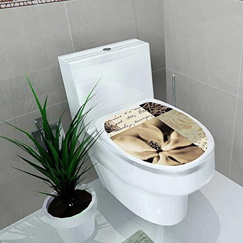 (Auraise-home Decal Wall Art Decor Flaxen Silhouette by Aparicio Bathroom Creative Toilet Cover Stickers W13 x L13)