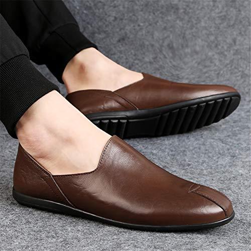 Pour Mocassins Marche Confortable Légère Automne Orteil Chaussure Chaussures Printemps Ronde Imperméable fei Gpf Chaussure Mode De Conduite 1 Homme 39 wBqpf0