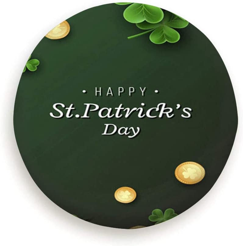 SUV Trailer Accessories X-Large St Patricks Day Card Clover Leaves Holidays Patrick Universal Spare Wheel Tire Cover Fit for Truck Camper Van,Jeep,Trailer 14,15,16,17 Inch Rv
