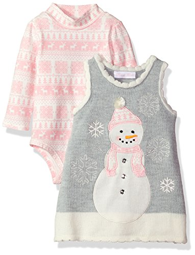 Bonnie Baby Christmas Outfits - Bonnie Baby Baby Girls Jumper Dress,