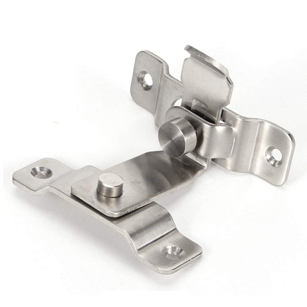 Stainless steel 90 degrees right Angle lock sliding door lock Security lock Pin hasp Latches Chain Locks Tools Hardware For Window Cabinet Hotel Home latch Corner buckle/hook lock/bolt,For sliding doo