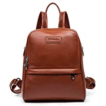 BOSTANTEN Women Leather Backpack Purse Satchel Shoulder School Bags for College Coffee Small