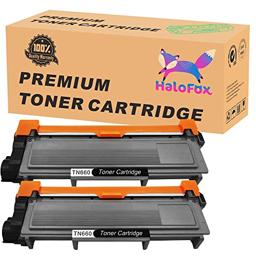 HaloFox 2-Pack New Toner Replacements For Brother TN660 TN630 HL-L2340DW HL-L2300D HL-L2380DW MFC-L2700DW L2740DW DCP-L2540DW L2520DW HL-L2320D MFC-L2720DW L2740DW Printer (Premium Toner Filled)