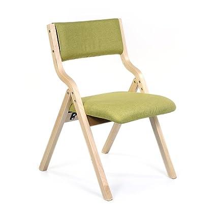 Silla plegable silla de comedor de madera maciza acolchada ...