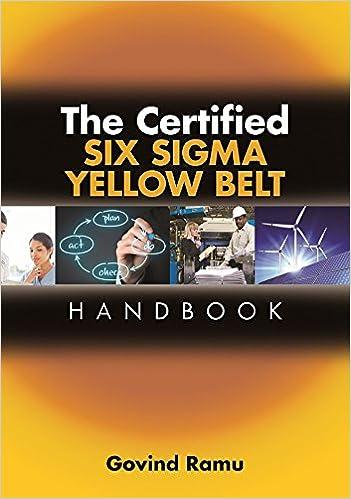 the certified six sigma yellow belt handbook govindarajan ramu