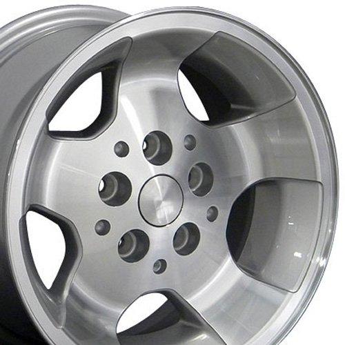 15×8 Wheel Fits Jeep Wrangler – Wrangler Style Silver Mach'd Face Rim, Hollander 9024