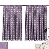 inspiring modern closet design Davishouse Purple Thermal Curtains Love Valentines Day Couple Wedding Bride Inspiring Heart Icon Design Image Privacy Protection