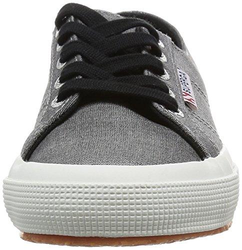 Superga 2750-Jeanslurexw, Zapatillas de Deporte para Mujer Nero (Black-Silver)