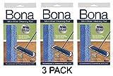 3 Pack Bona Microfiber Cleaning Pad