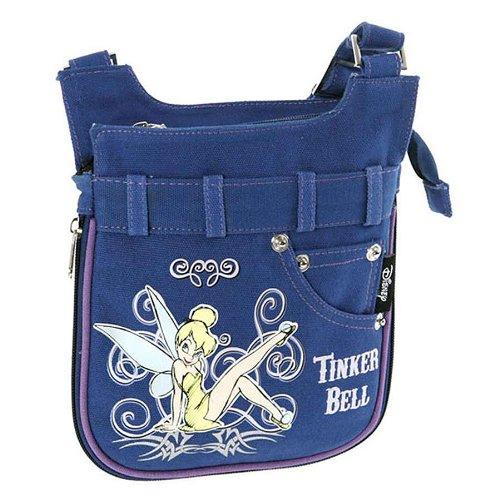 Disney Turnbeutel Tinkerbell Jeans Schultertasche Action Tablet Blau 36794-DI