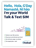 World Talk & Text SIM Card by Mobal. Works in over 190 countries