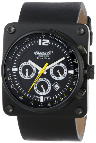 Ingersoll Men's IN4108BBK Bison No. 43 Analog Display Automatic Self Wind Black Watch