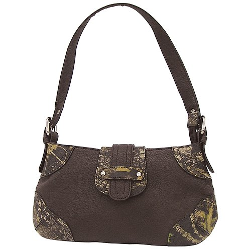Webers Woman Camo Shoulder Bag by Weber Camo Leather Goods