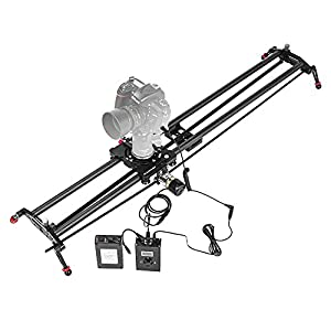 "ASHANKS 39""/100CM Carbon Fiber Slider With Adjustable Angle Follow Focus Pan Angle Tube Electric Motorized Control Delay Sliders Slider Dolly Track Rail for Timelapse Photography"