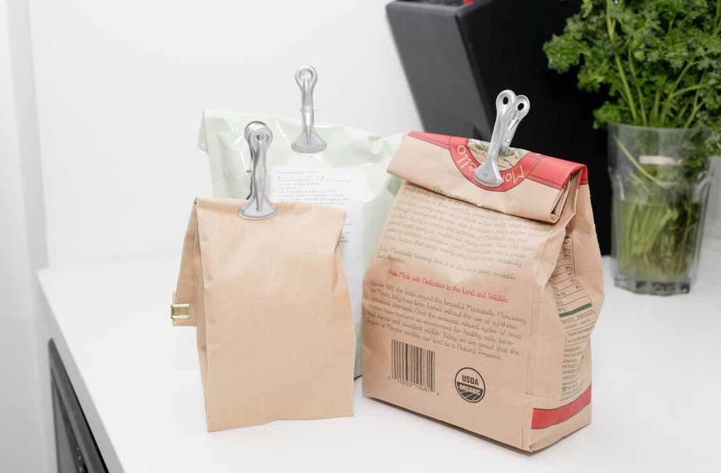 Kikkerland retro bag clips set of 4bag clips