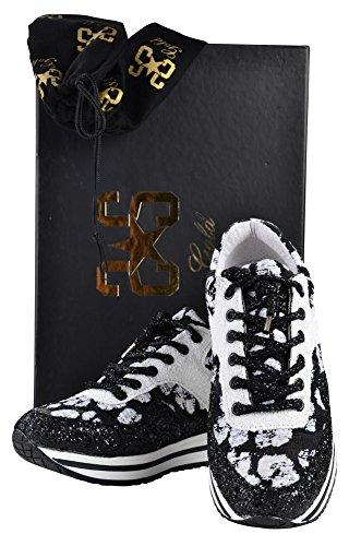 Gold Women's Beaded Shoes Sneaker Black White 41 2Star ggAS8