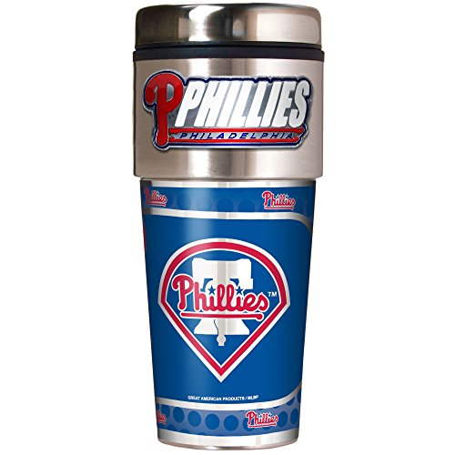MLB Philadelphia Phillies Metallic Travel Tumbler,  16-Ounce