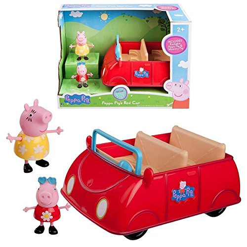 NEW Peppa Pig Peppa's Red Car w/Figures Mummy Nick Jr Kids Toy Playset 6R49zb1 (Themes For Dressing Up In Groups)