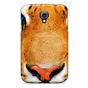 Samsung Galaxy S4 LOB6121Fvor Custom Nice Blue Eyes Tiger Pattern Protector Hard Phone Covers -MarcClements