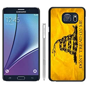 Hot Sale Note 5 Case,Don'T Tread On Me 1 Black Samsung Galaxy Note 5 Screen Phone Case Unique and Art Design