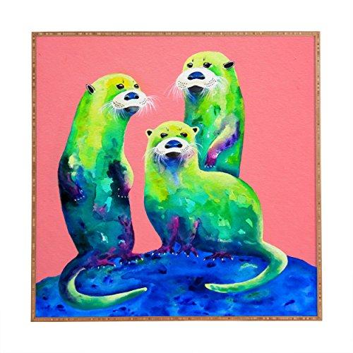 - Deny Designs Clara Nilles Margarita Otters On Fresh Melon Framed Wall Art, Large/30 x 30