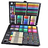 Deluxe Art Set,168Pcs Children's Drawing Painting Sketching Tools Set Watercolor Pen Crayon Oil Pastel Paint Brush Drawing Pen Color Pencil etc for Art Student Adult