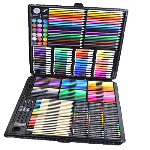 Deluxe Art Set,168Pcs Children's Drawing Painting Sketching Tools Set Watercolor Pen Crayon Oil Pastel Paint Brush Drawing Pen Color Pencil etc for Art Student Adult by cables (Image #1)