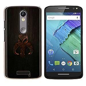 Cartel de madera- Metal de aluminio y de plástico duro Caja del teléfono - Negro - Motorola Droid Turbo 2 / Moto X Force