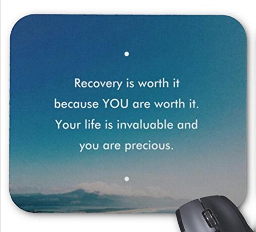 Recovery Is Worth It Pattern Mouse pad 9.84 x 11.8 inch (Recovery Its)