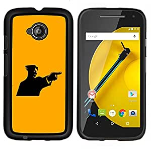 "For Motorola Moto E2 / E 2nd gen , S-type Amarillo Mad individuo"" - Arte & diseño plástico duro Fundas Cover Cubre Hard Case Cover"