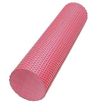Rodillo de Yoga - SODIAL(R)90x15cm EVA Yoga Pilates masaje ...