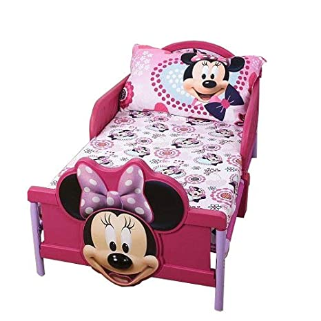 Amazon Com Minnie Mouse Toddler Comfortable Bedding 2 Piece Sheet