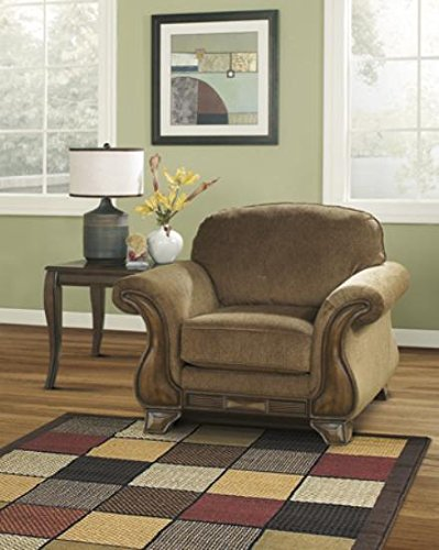 ashley furniture signature design - montgomery accent chair - upholstered - traditional style side chair - mocha brown